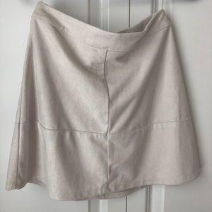 Lulu's Beige Suede Skirt